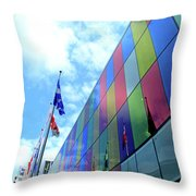 Colored Glass 7 Throw Pillow