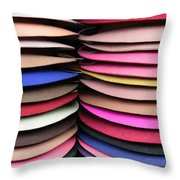 Colored Hat Brims Throw Pillow