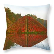 Colored Lake Pyramid Throw Pillow