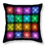 Colored Lights Throw Pillow