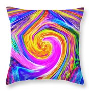 Colored Lines And Curls Throw Pillow