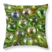 Colored Marbles Throw Pillow
