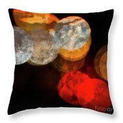 Colored Moons 1 Throw Pillow