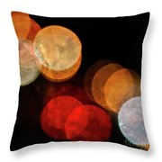 Colored Moons 3 Throw Pillow