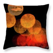 Colored Moons 4 Throw Pillow