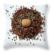 Colored Peppercorn  Throw Pillow