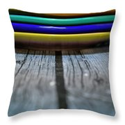Colored Plates 1 Throw Pillow