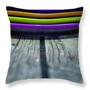 Colored Plates 4 Throw Pillow