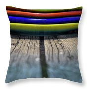 Colored Plates 5 Throw Pillow