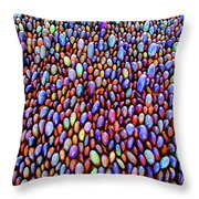 Colored Rocks Or Eggs Throw Pillow