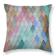 Colored Roof Tiles - Painting Throw Pillow