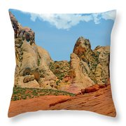Colored Sandstones Valley Of Fire Throw Pillow