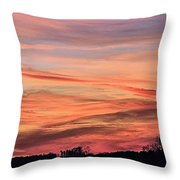 Colored Skies Throw Pillow