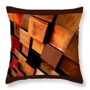 Colored Squares Throw Pillow
