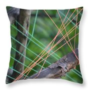 Colored Thread Throw Pillow