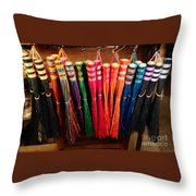 Colored Whisks Throw Pillow