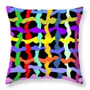 Colorfield Theory, No. 2 Throw Pillow