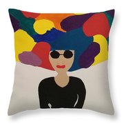 Color Fro Throw Pillow