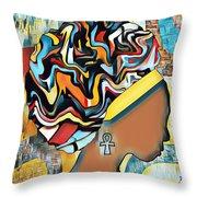 Colorfro Throw Pillow