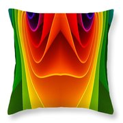 Colorful 3a Throw Pillow