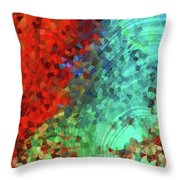 Colorful Abstract Art - Rejoice - Sharon Cummings Throw Pillow