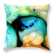 Colorful Abstract Art - The Calling - By Sharon Cummings Throw Pillow