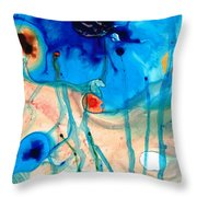 Colorful Abstract Art - The Reef - Sharon Cummings Throw Pillow