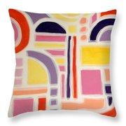 Colorful Abstract Art - Urban Maze Throw Pillow