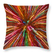 Colorful Abstract Photography Throw Pillow