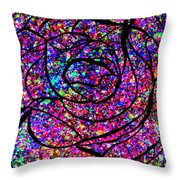 Colorful Abstract Rose  Throw Pillow