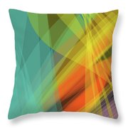 Colorful Abstract Vector Background Banner, Transparent Wave Lin Throw Pillow
