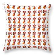 Colorful Angel Pattern Illustration Throw Pillow