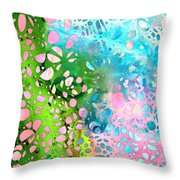 Colorful Art - Enchanting Spring - Sharon Cummings Throw Pillow