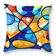 Colorful Art - Line Dance 1 - Sharon Cummings Throw Pillow
