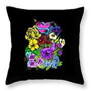 Colorful Art Love Bouquet Throw Pillow