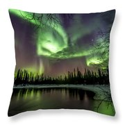 Colorful Auroras Throw Pillow