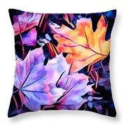 Colorful Autumn Throw Pillow