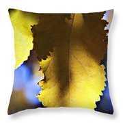 Colorful Autumn Leaf Throw Pillow