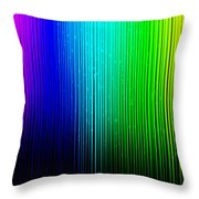 Colorful Background With Vertical Lines Throw Pillow