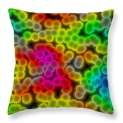 Colorful Bacteria Throw Pillow