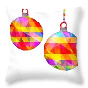Colorful Baubles - 66 Throw Pillow