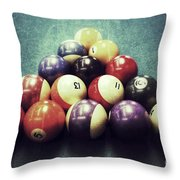 Colorful Billiard Balls Throw Pillow