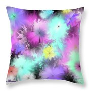 Colorful Blobs Throw Pillow