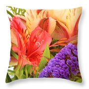 Colorful Bouquet Of Flowers Throw Pillow