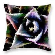Colorful Cactus Throw Pillow