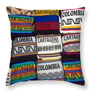 Colorful Cartagena Throw Pillow