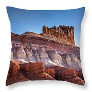 Colorful Castle Peak Throw Pillow