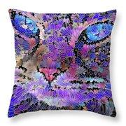 Flower Cat 2 Throw Pillow