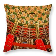 Colorful Ceiling  Throw Pillow