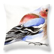 Colorful Chaffinch Throw Pillow